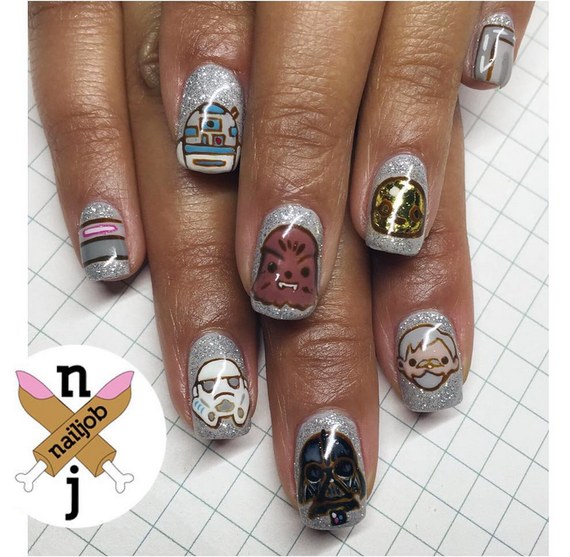 "<p>Star Wars nails by <a href=""https://www.instagram.com/nailjob"">Fariha Ali</a>, Los Angeles</p>"