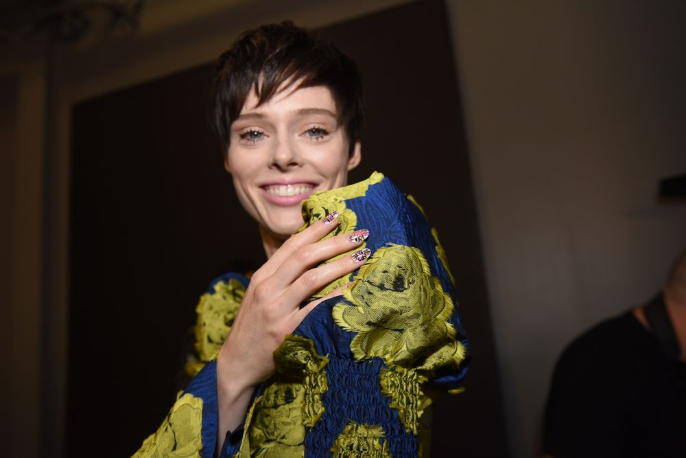 <p>Coco Rocha for Christian Siriano, nails by KISS</p>