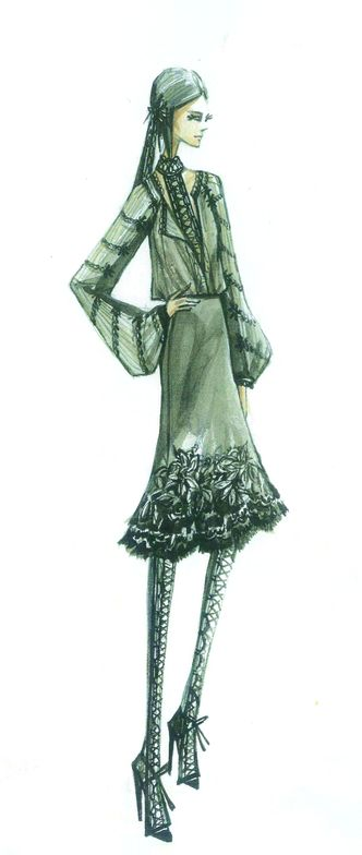 <p>Rich, decadent neutral <strong>Coffee Lique&uacute;r</strong> brings a sense of elegance to fall and is a savory alternative to basic black. <em>Illustration by Elie Tahari. Originally appeared in The Pantone Fashion Color Report Fall 2011.</em></p>