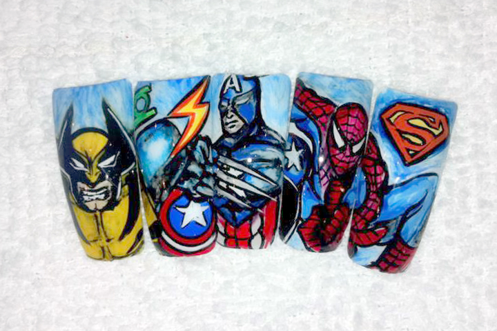"""<p>DC or Marvel nails &mdash; can't decide? You won't have to with <a href=""""http://instagram.com/max_nguyen_artist"""">Max Nguyen</a>, Bellagio Salon, Lebanon, Tenn.</p>"""