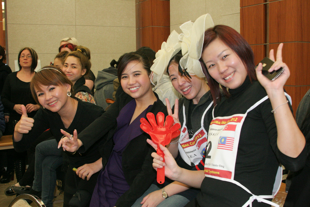 <p>Team spirit was high during the Team Relay competition.</p>