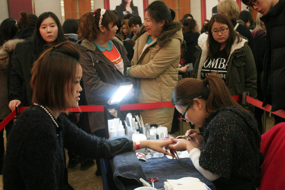 <p>Megumi Arai created Salon Success-style nails during the Top Artist competition. These veteran competitors were able to choose the nail style in this category.</p>