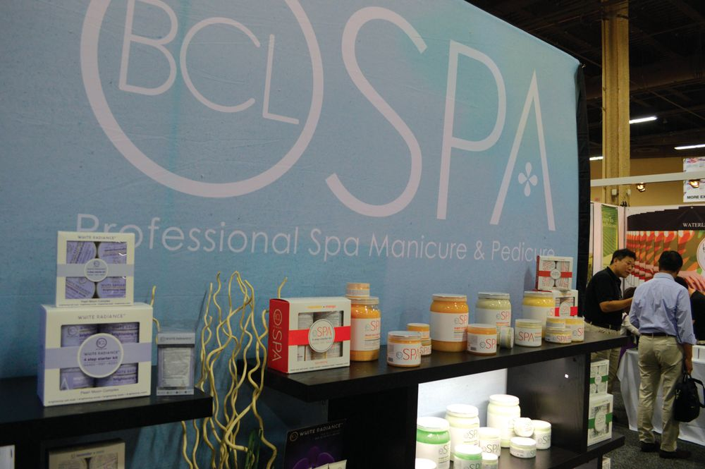 <p>The Bio Creative Labs booth was bursting with exciting new products including BCL Spa, a line of scrubs made with crushed rice and other natural ingredients.</p>
