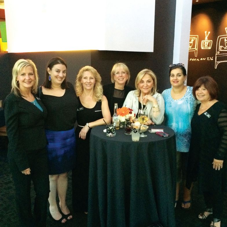 <p>Beth Lewis, Haley Marcus, Donna Wilton, Kris Ruffian, Jessica Vartoughian, Trista Caruso, and Ilene Richkind enjoyed drinks at Jessica Cosmetics' cocktail reception at Border Grill.&nbsp;</p>