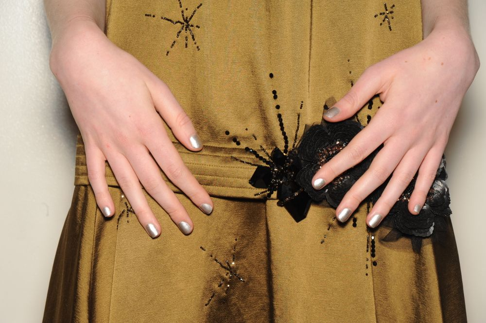 <p>Metallic nails from butter LONDON at Creatures of the Wind.</p>