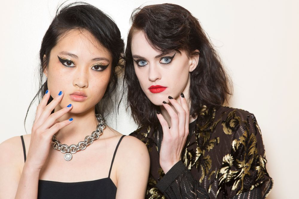 <p>Punk met hippie at Creatures of the Wind. Four butter LONDON colors were used at this show.</p>