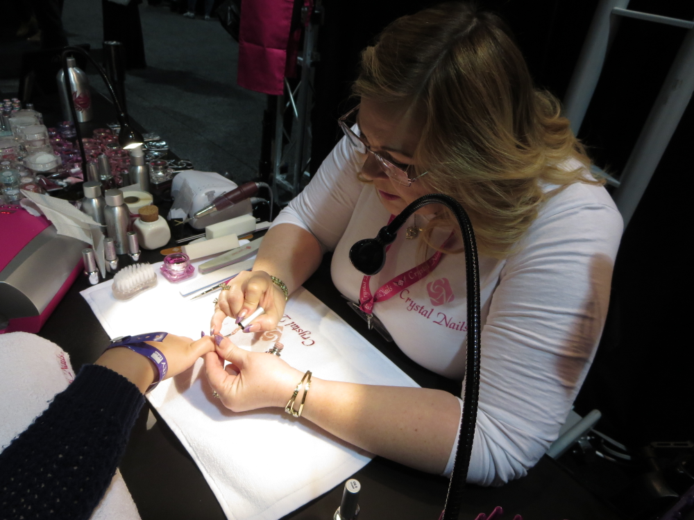 <p>Crystal Nails product demo by Sherrie Evans</p>