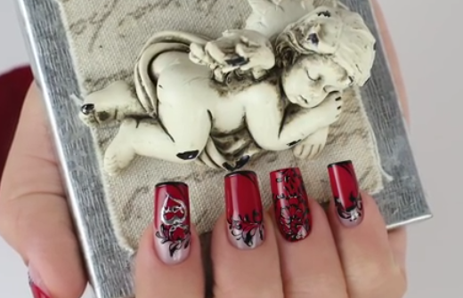 Valentine's Day Abstract Nails