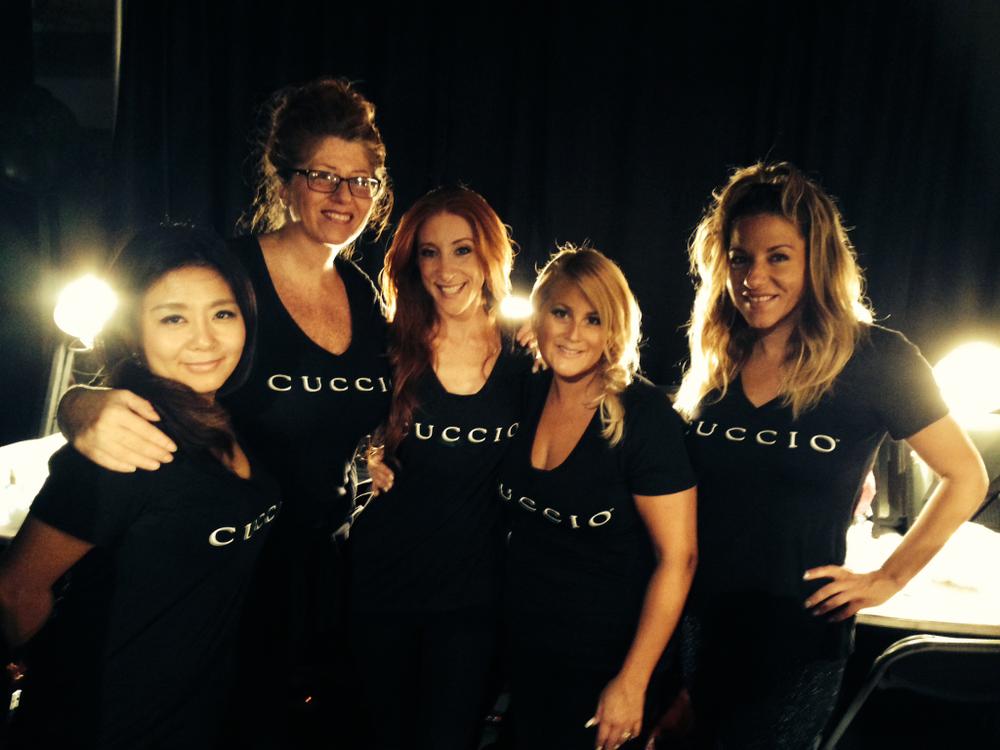 <p>Cuccio Colour kicked off MBFW at the Cute Circuit show led by celebrity manicurist Gina Eppolito. Photo courtesy of Cuccio.</p>