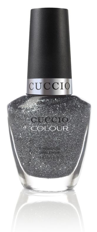 <p><strong>Cuccio </strong>Color in Vegas Vixen is a silver glitter.</p>