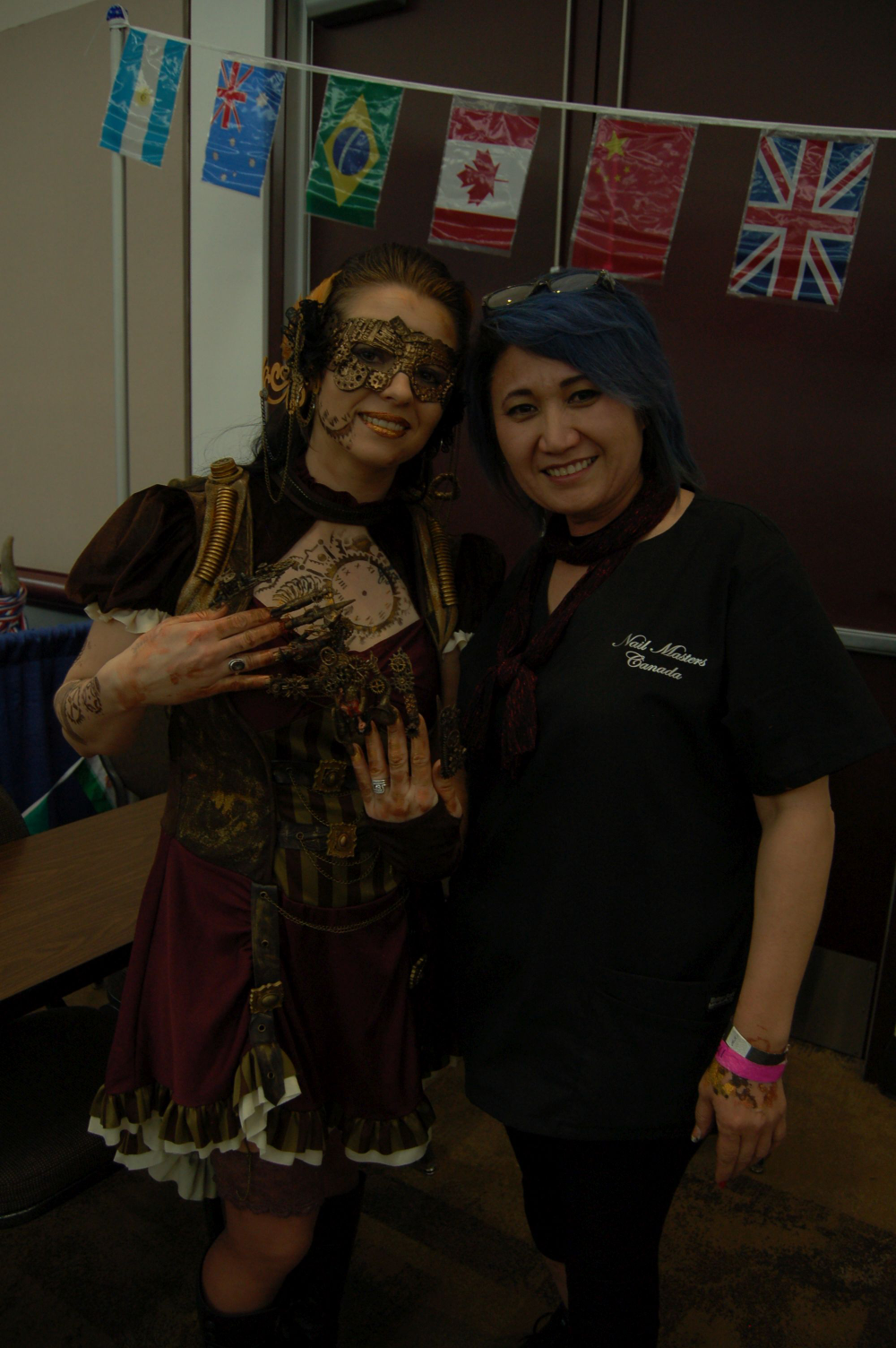 <p>Steampunk competitor Aigul Fritzke (right)</p>