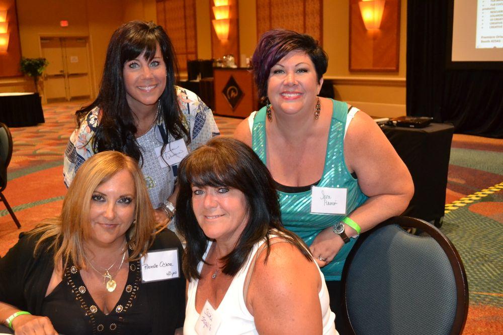 <p>(clockwise from top left) Laura Quinn, Sara Ramon, Jacki Ingalls, Rhonda Ochoa (nail tech for 40 years!)</p>