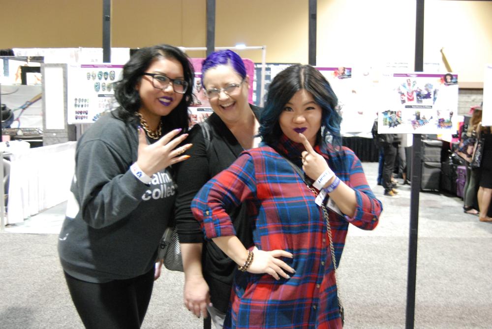 <p>Vancouver nail tech Dee Escalante, NTNA contestant Sherri Traweek, and Winnie Huang</p>