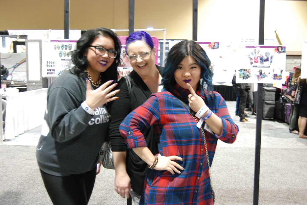 <p>Vancouver nail tech Dee Escalante, NTNA contestant Sherri Traweek, and Winnie Huang</p>
