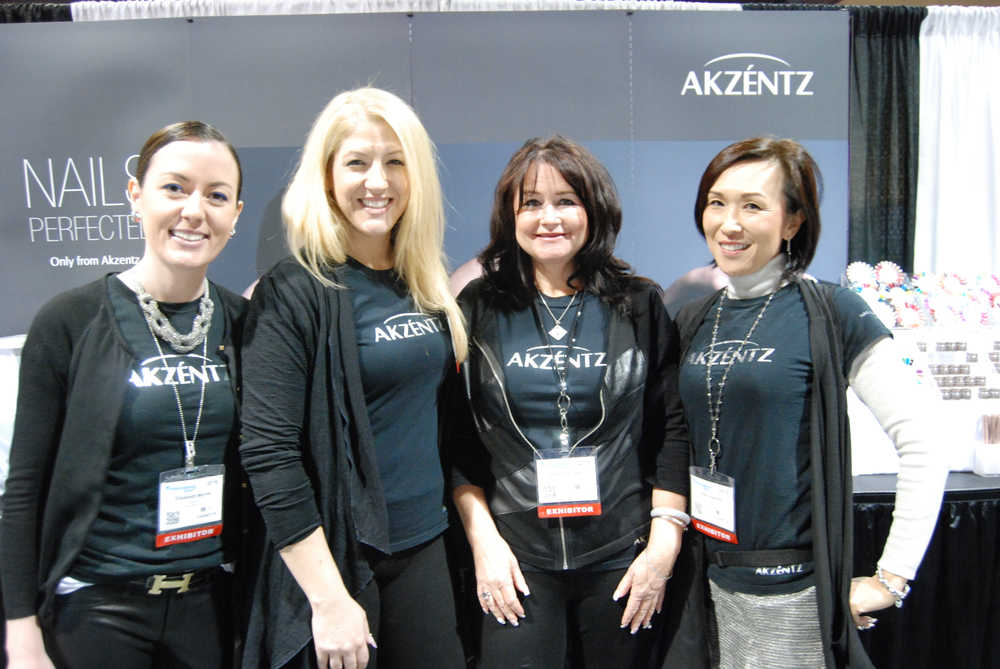 <p>Akzentz Professional's Elizabeth Morris, Gina Silvestro, Cheryl Campbell, and&nbsp;Yuriko Hoshina</p>