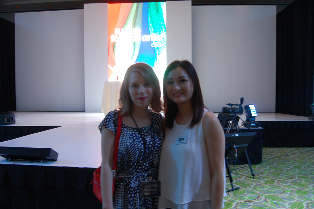 <p>NAILS editor Katherine Fleming with Kupa's Ann Chang.</p>