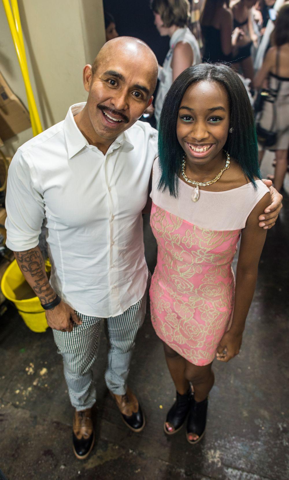 <p>Designer Raul Penaranda and Polished Girlz founder Alanna Wall.&nbsp;Photo courtesy of Samantha Morales Photography.&nbsp;</p>