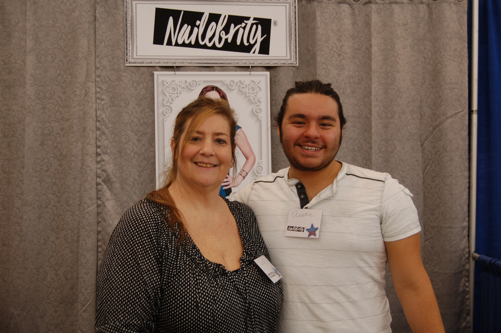 <p>Nailebrity's Janis Morin and Austin King showed off the brand's new color and glitter coatings.</p>