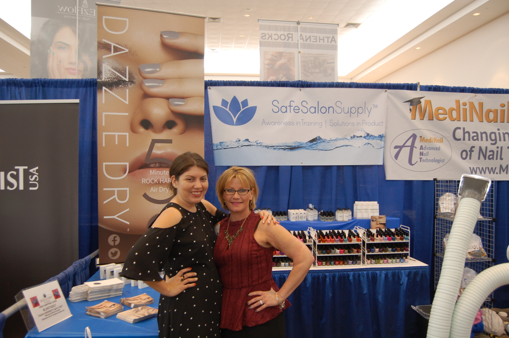 <p>Lori Ducharme (right) of Dazzle Dry</p>