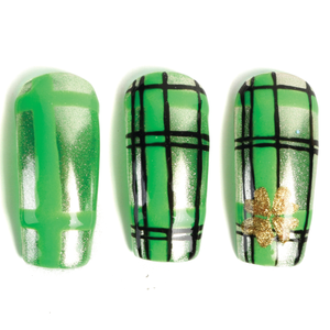 Nail Art Studio: Gold Clover