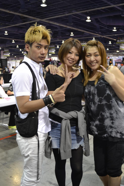 <p>Nail competitors Yuuske Terasaki, Mayumi Hase, and Kyoko Amemiya are ready to nail the competition.</p>