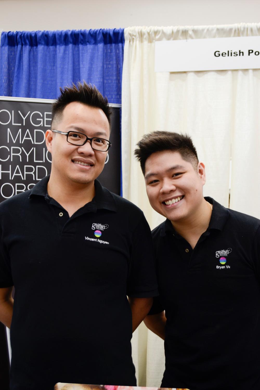 <p>Gelish's Vincent Nguyen and Bryan Vu</p>
