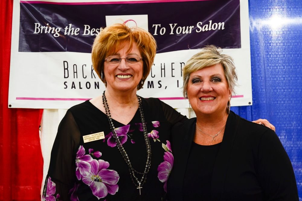 <p>Angel Henneman and Rhonda Chapman of Backscratchers</p>
