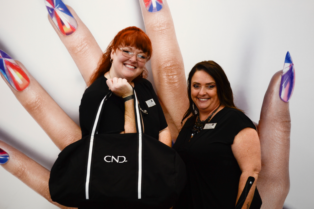 <p>CND debuted its new logo at the show!</p>