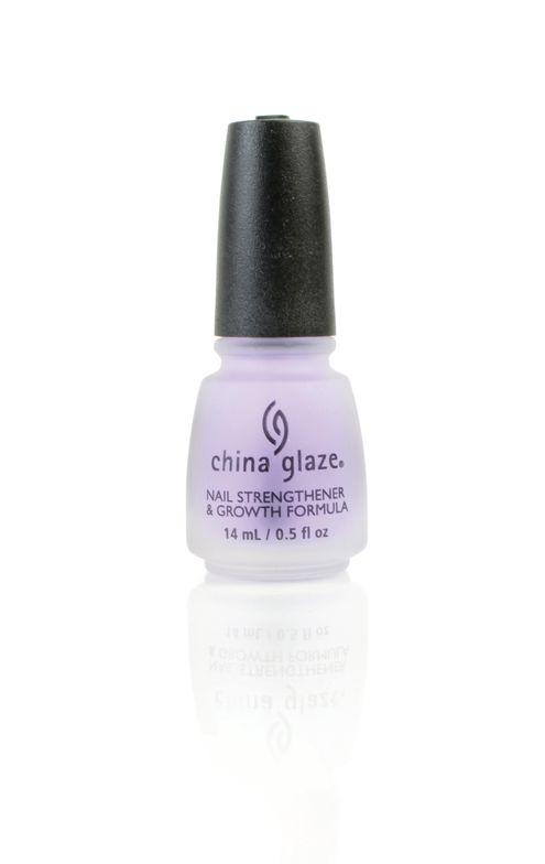 """<p>China Glaze Nail Strengthener &amp; Growth Formula<br /><a href=""""http://www.chinaglaze.com"""">www.chinaglaze.com</a></p>"""