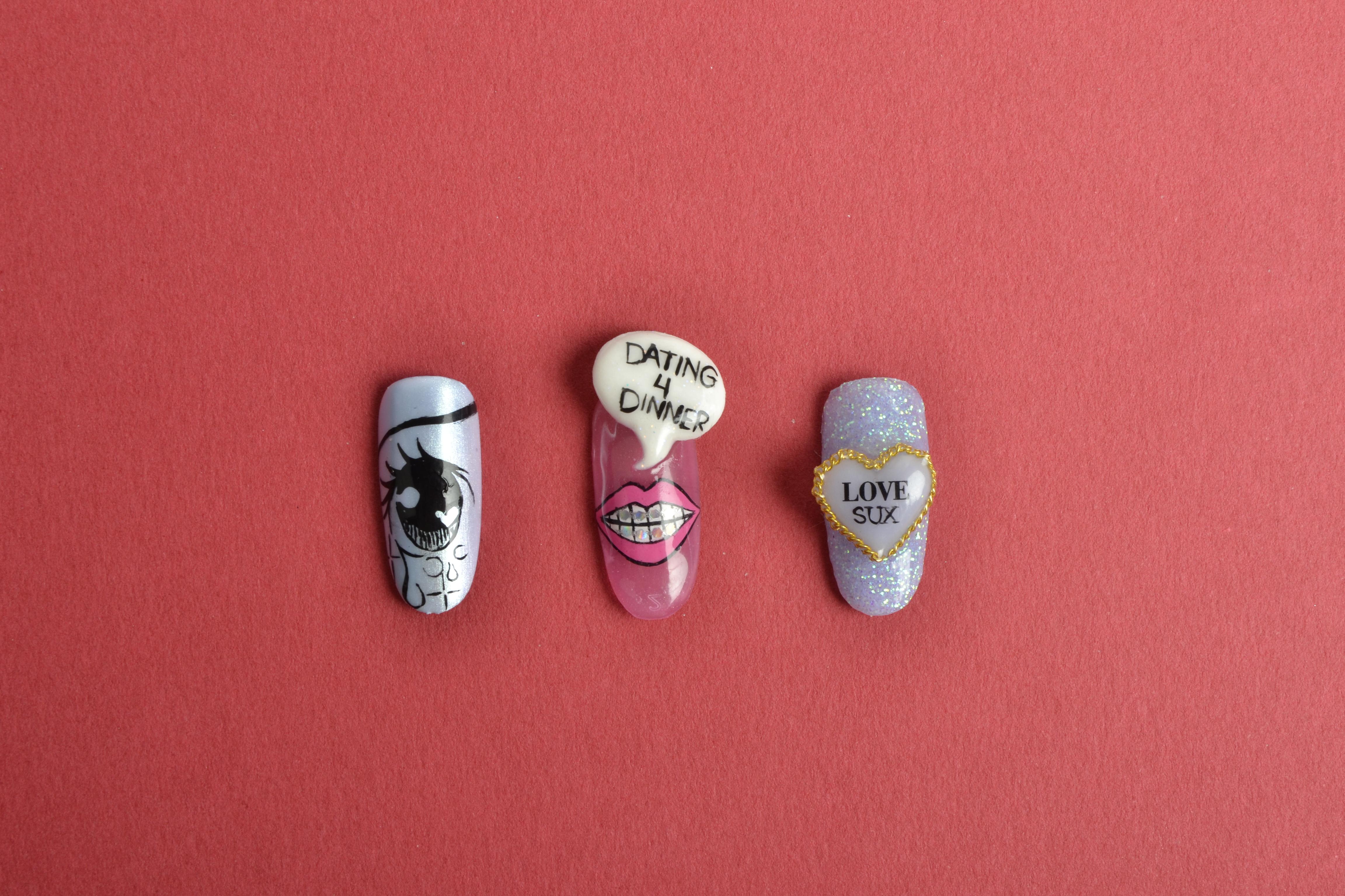Stupid Cupid: Anti-Valentine's Day Nail Art
