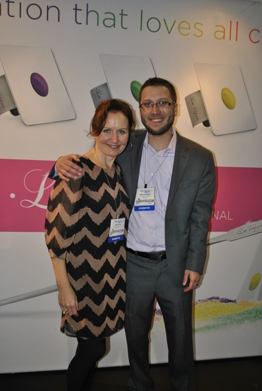 <p>LaVaque's Juliana Roy and Barry LaVaque hosted a happening booth, featuring demos from celebrity techs and products from partnering brands.</p>