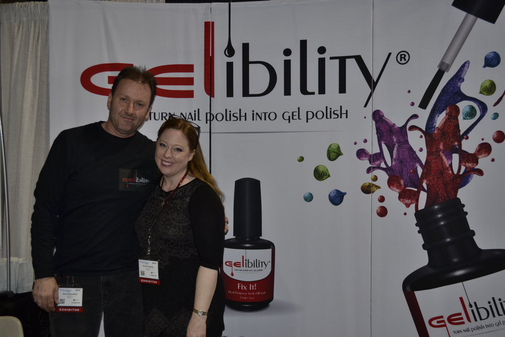 <p>Gelibility founder Brandi Hensley (right) and Ron Ischovitsch</p>