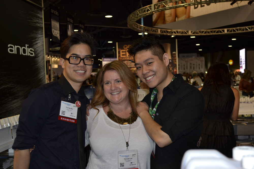 <p>Gelish's Tin Bui, NAILS editor Hannah Lee, and Bryan Vu</p>