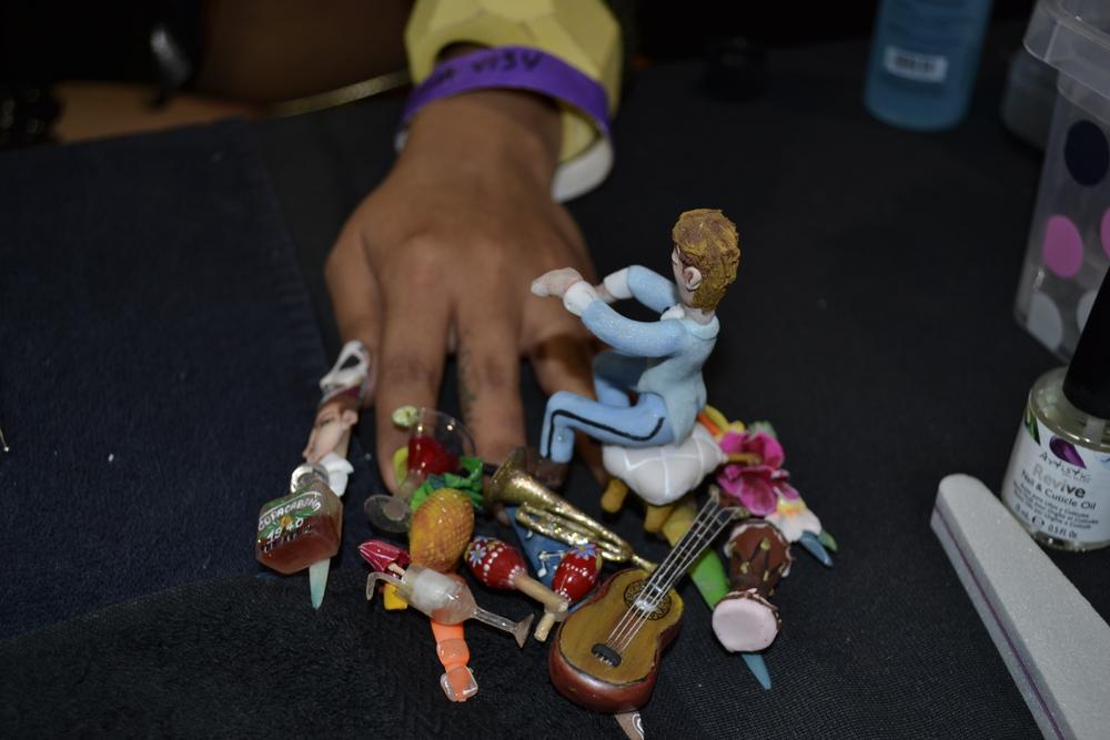 <p>Copa Cabana-inspired fantasy nail art by Artistic Nail Design</p>