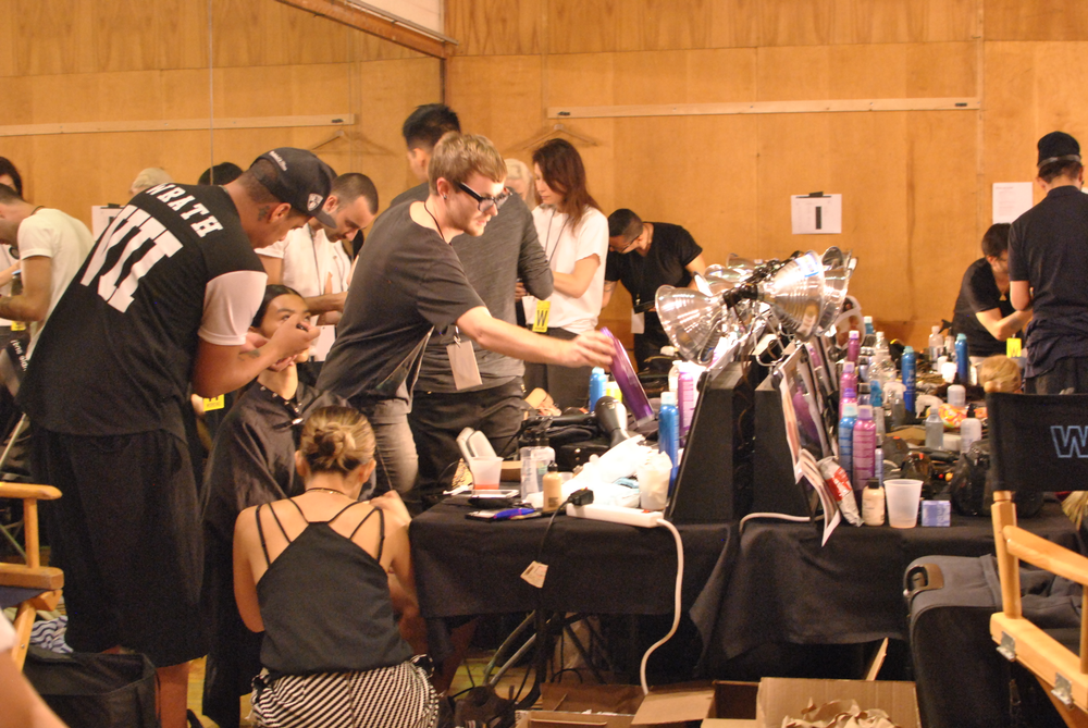 <p>Backstage at Opening Ceremony.</p>