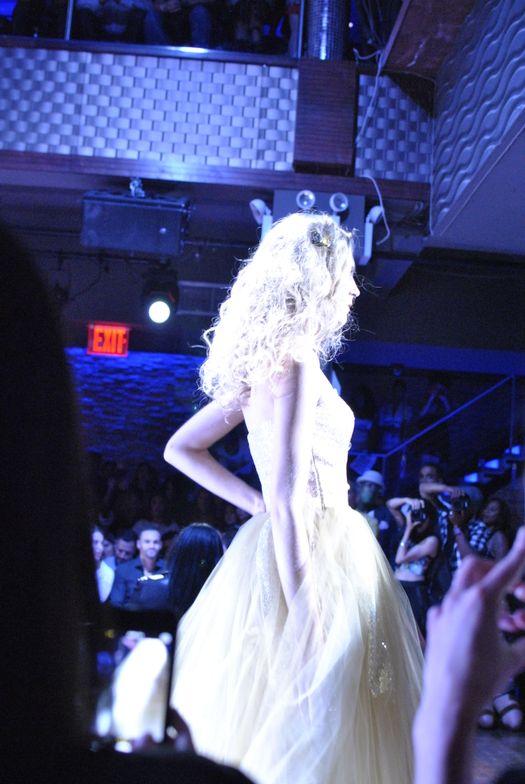 <p>Model walking the runway at the Raul Penaranda show.&nbsp;</p>