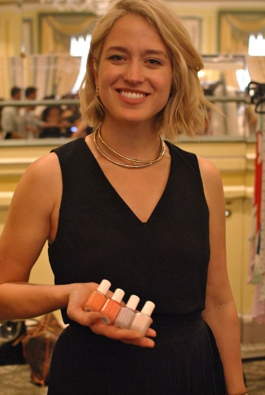 <p>Essie Canada lead manicurist Rita Remark with the colors used for the Alice + Olivia show.</p>