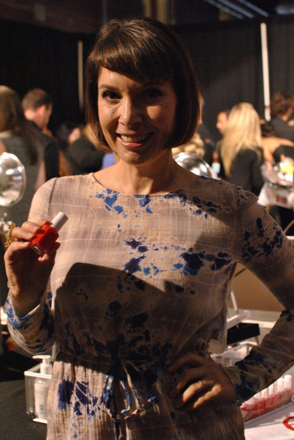 <p>Essie lead manicurist Michelle Saunders.</p>