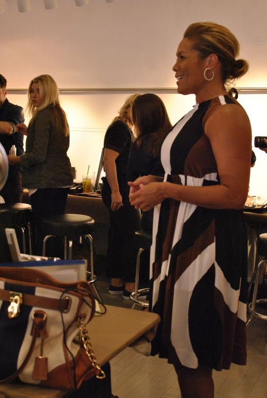 <p>ABC 7's Kemberly Richardson reports live from the Tahari showroom.&nbsp;</p>