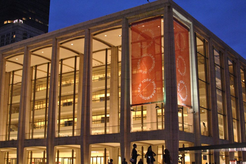 <p>Lincoln Center at night, after leaving the Costello show.</p>