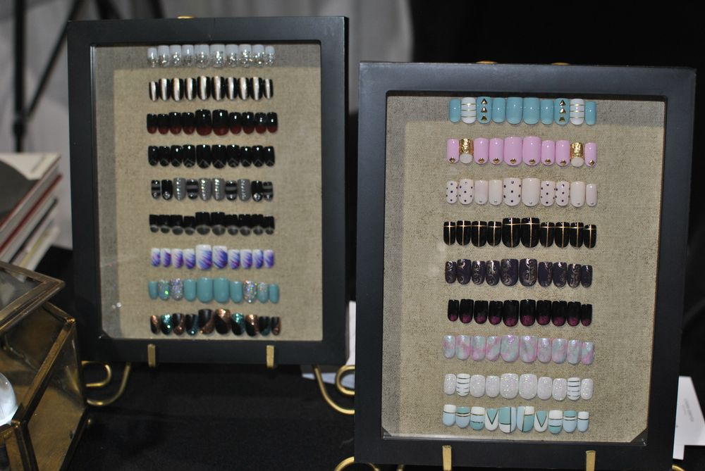 <p>Nail art at the Akzentz booth</p>