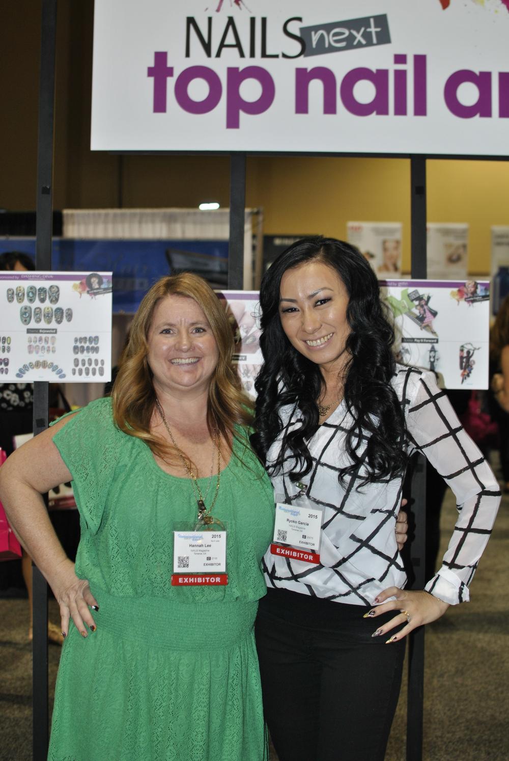 <p>NAILS editor Hannah Lee and NTNA 2014 champion Ryoko Garcia</p>