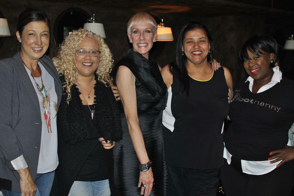 <p>Celebrity nail&nbsp; techs Carla Kay, Tracy Sutter, CND's Jan Arnold, Melissa Bozant, and Footnanny Gloria Williams gather for a special VIP event before NAILS Next Top Nail Artist party.</p>
