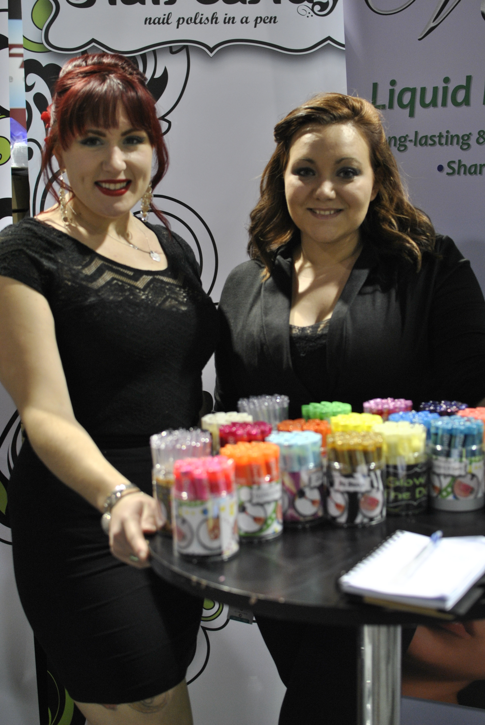 <p>Nail Candy team Molly Clifford and Kristen Burke</p>