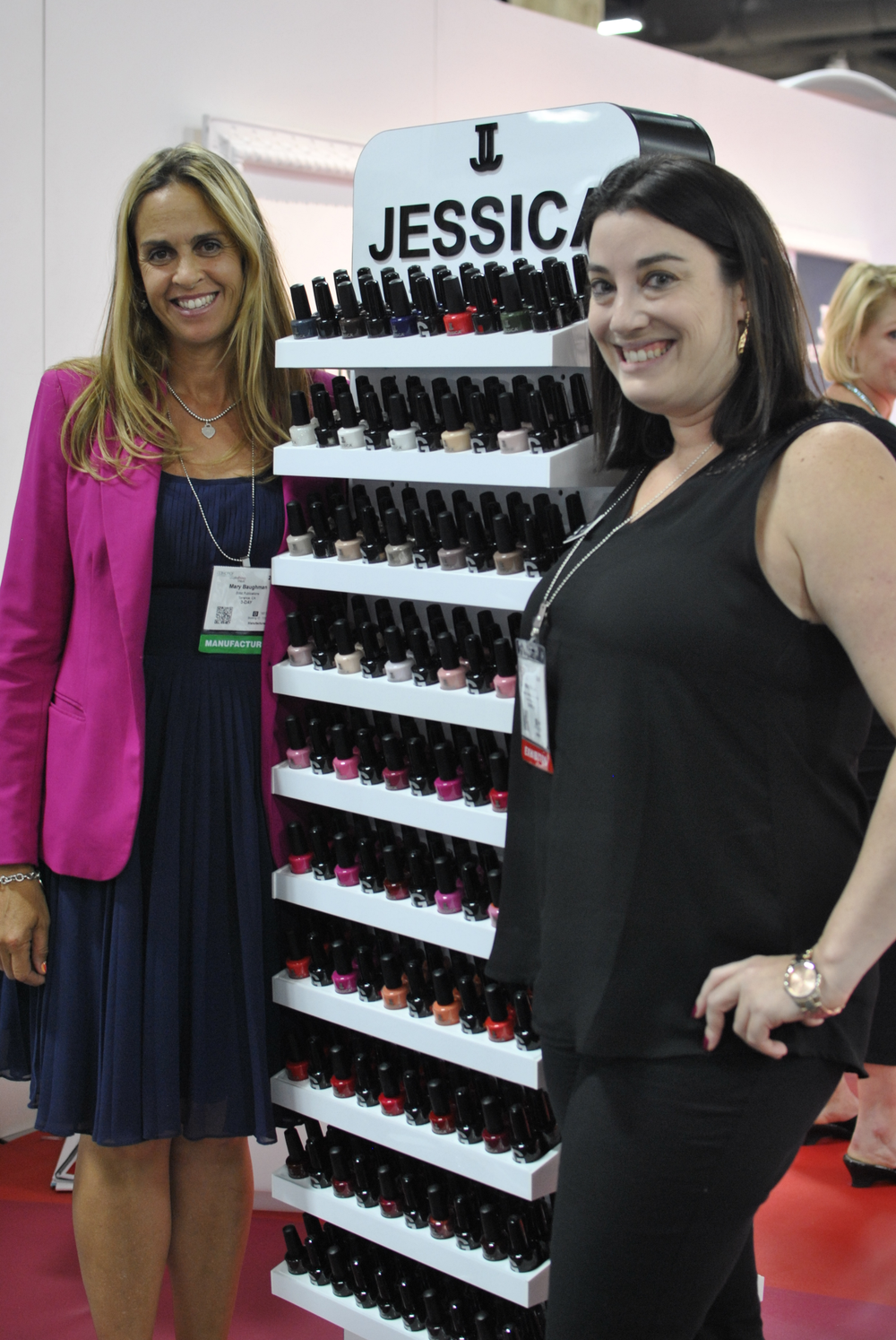 <p>NAILS' Mary Baughman enjoyed seeing the upcoming collections from Jessica's Haley Marcus.</p>