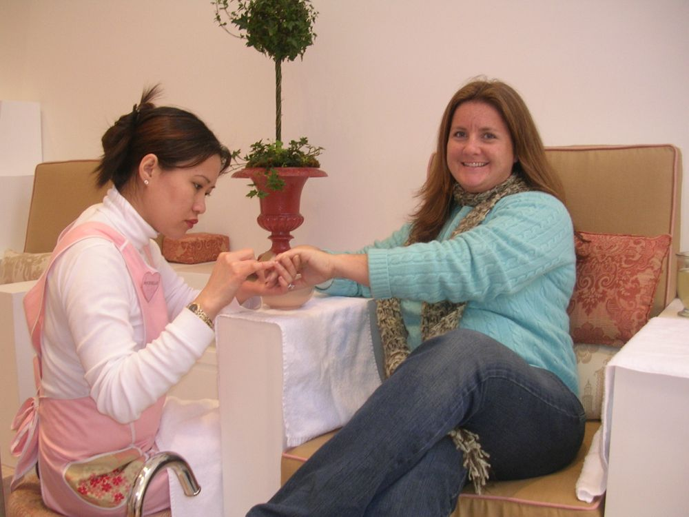 <p>Getting pampered in San Francisco.</p>