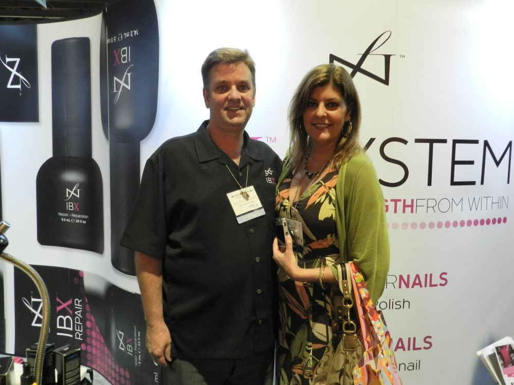 <p>Famous Names' Jim Nordstrom and NAILS' Tracy Rubert.</p>