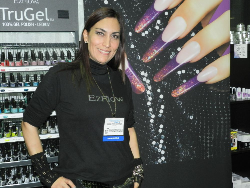 <p>Lulu Desfassiaux showed off her amazing nail art and skills at the EZ Flow booth.</p>