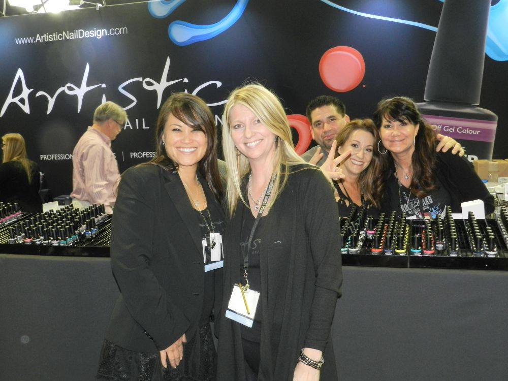 <p>The Artistic team always has a good time at their booth.</p>