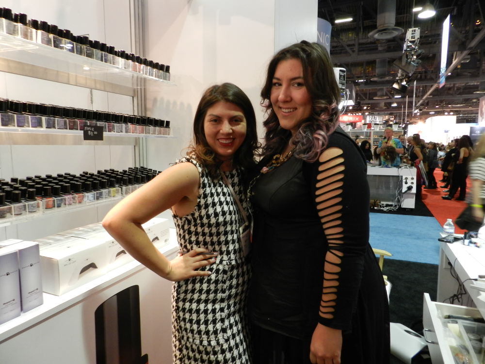 <p>NAILS' Beth Livesay with Young Nails educator Sabella Snyder.</p>